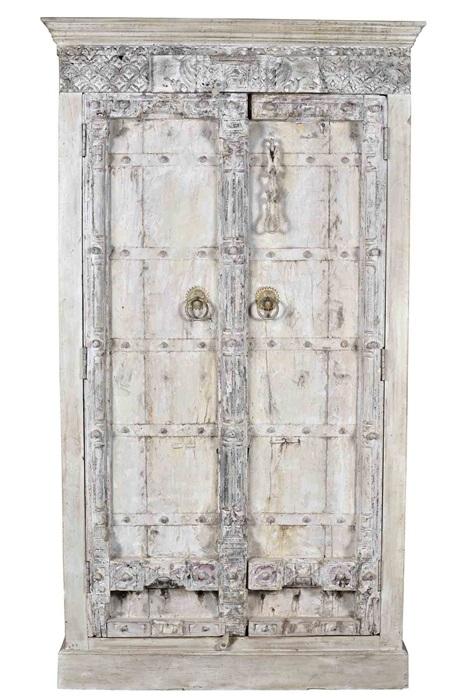 White Wash Hangkast.Indische Kast White Wash Indiase Meubels Stoop Furniture